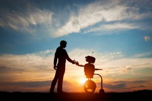 Mobile robots friendship with humans